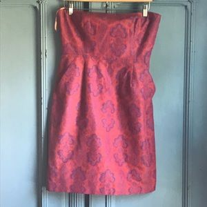 J. Crew Ella Paisley Strapless Dress with Pockets